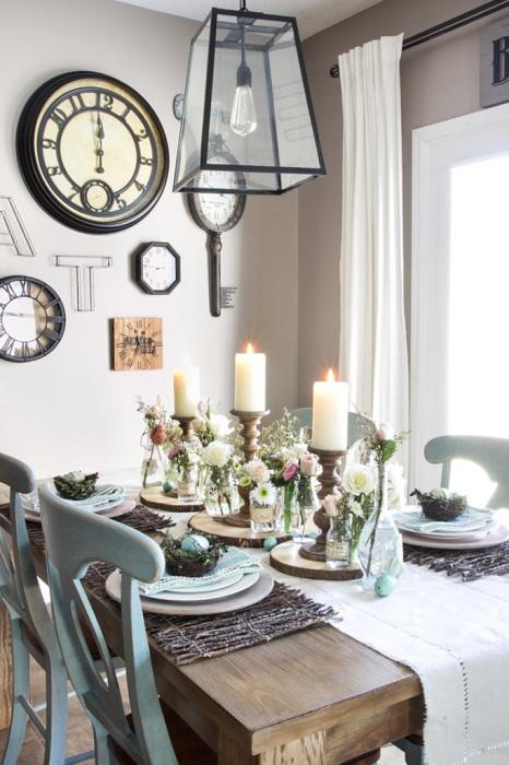 Интересно решение за декориране на великденска маса, която е проста и сладка в същото време.