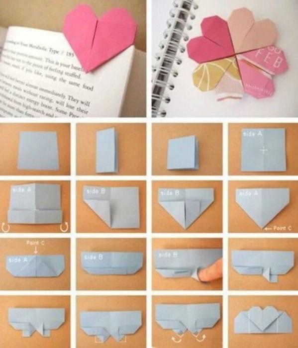Симпатични и прости хартиени отметки, които се правят много лесно.