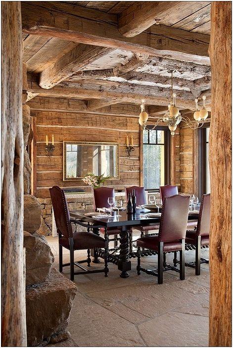 Комбинация от лукс с елементите на класическа дървена колиба.