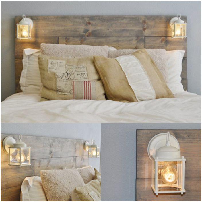 Удобна рамка за легло на палет в нежни цветове ще украси всяка стая.