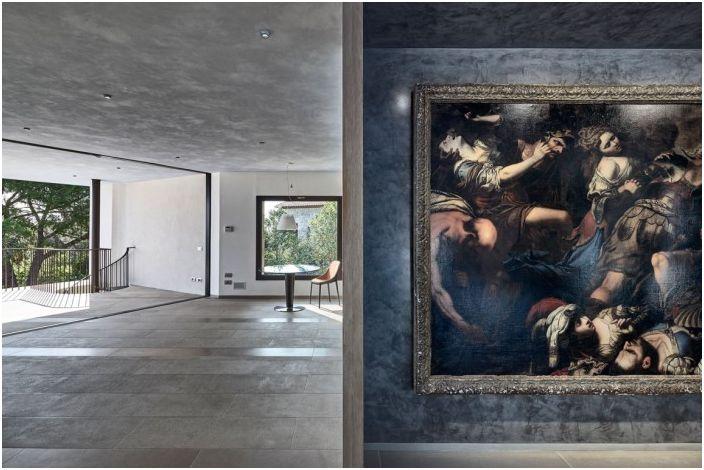 Villa La Madone. Wnętrze.