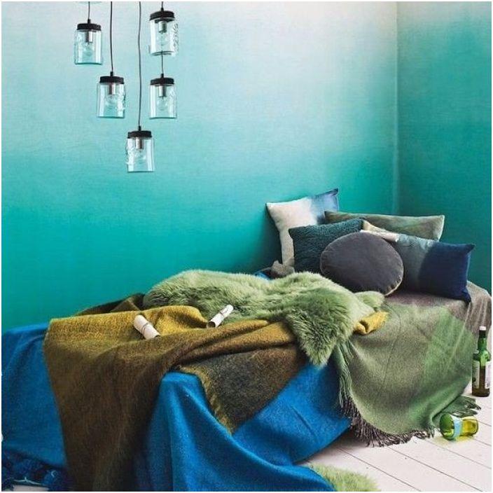 Świeży plusk: niebieski i zielony