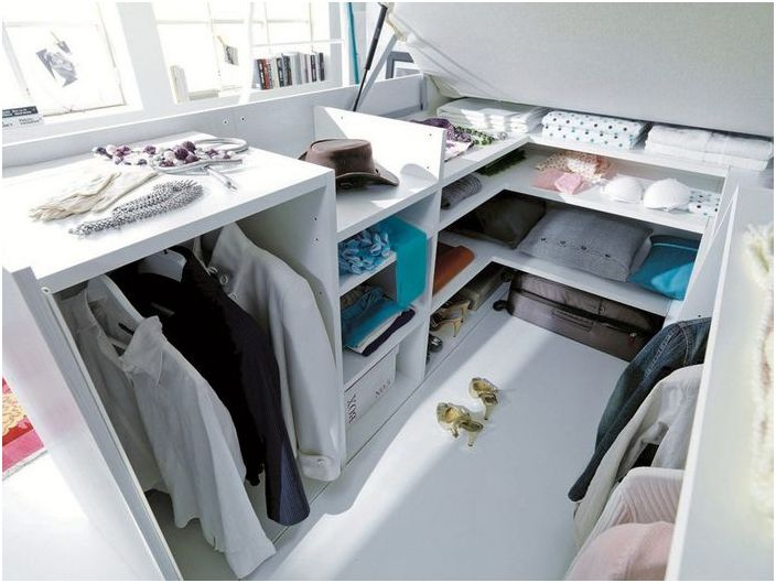 Stylish wardrobe in bed