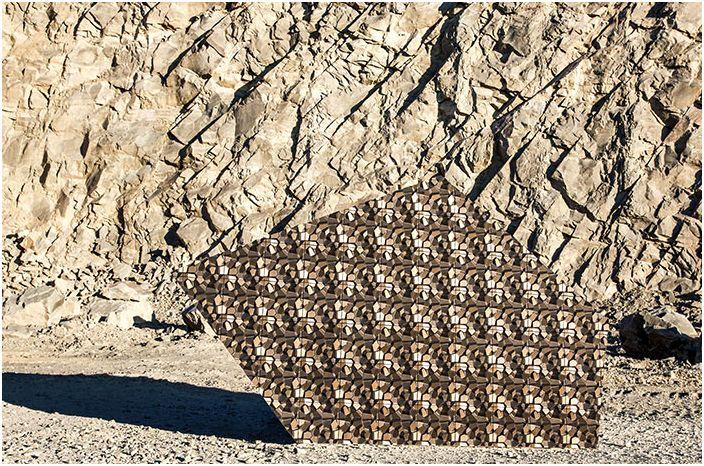 Плочките са вдъхновени от планини и скали