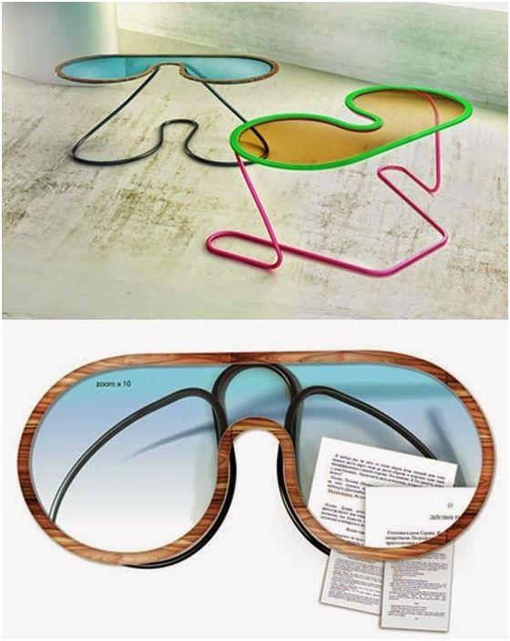 Маса под формата на слънчеви очила