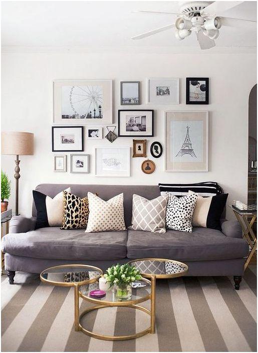 Tyylikäs ja toimiva sisustus olohuoneessa