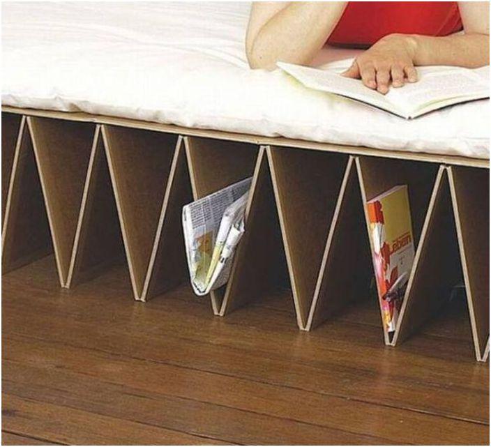 Systemy przechowywania w łóżku kartonowym
