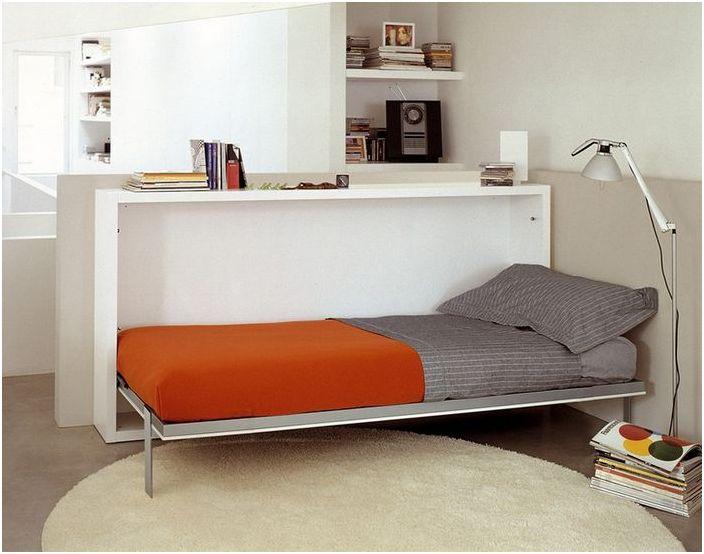Łóżko jako element strefowy