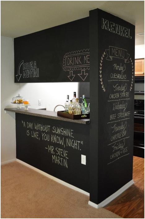 Шиферна боя в интериора на кухнята