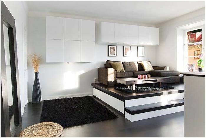 Потайная кровать в подиуме
