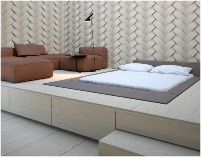 скрытая кровать в полу