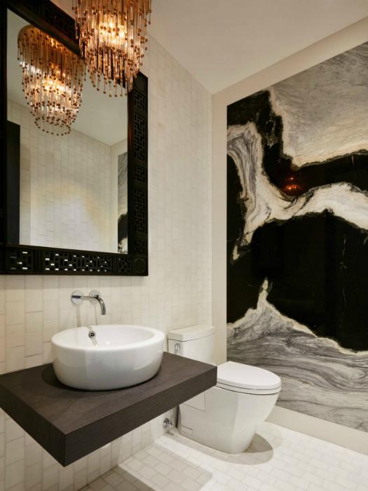 Ванная комната в стиле арт деко.