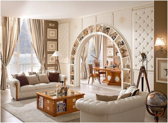 Интересный интерьер с аркой