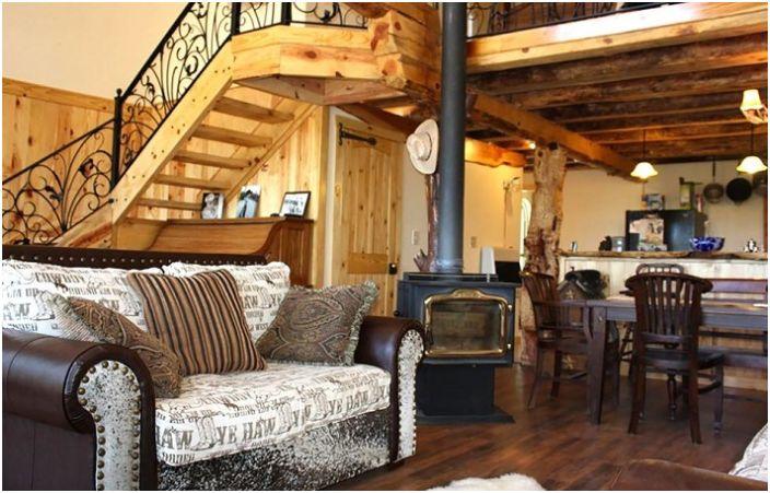 Пример за интериор в сводеста къща.