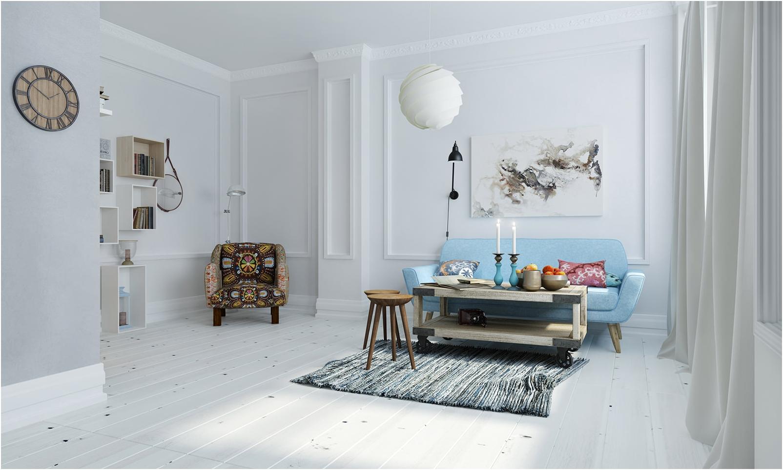 стая с бели стени