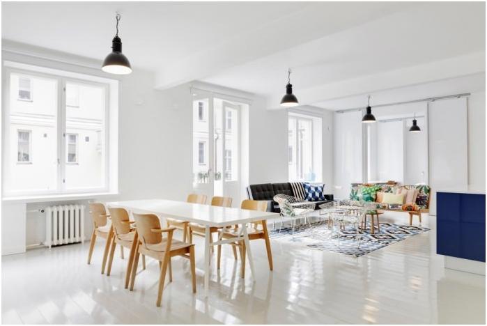 бял под в дизайн на апартамент