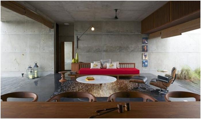 Betonowe wnętrze
