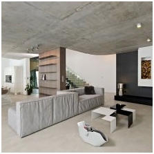 Wnętrze betonowe: cechy, foto-4