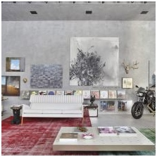 Wnętrze betonowe: cechy, foto-5