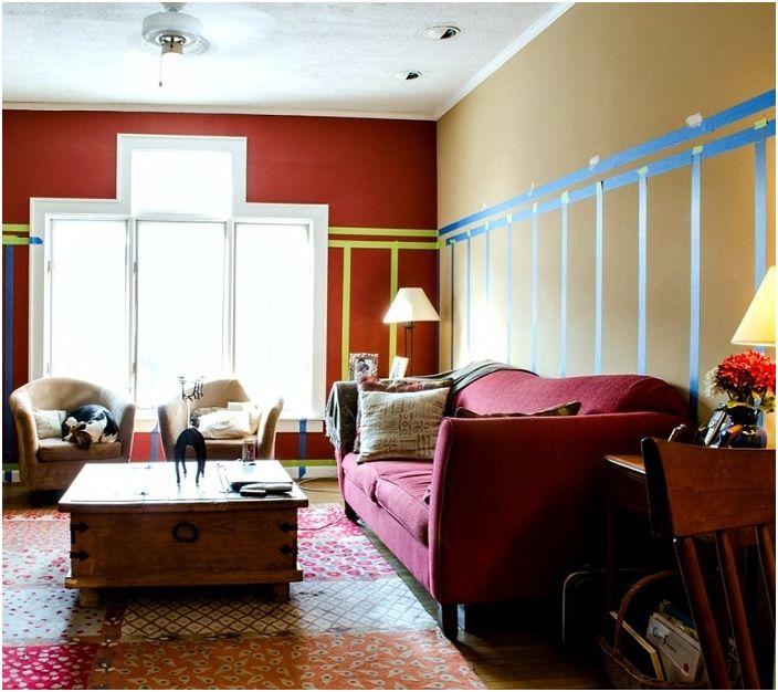 Светло петно на фона на голям френски прозорец ще придаде на дневната или детската стая ярък, светъл вид.