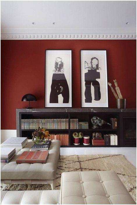 Комбинацията от бордо и черно изглежда особено красива.