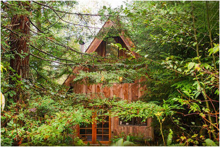 Японска горска къща - къща в гората.