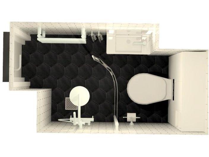 Разположение на малка баня