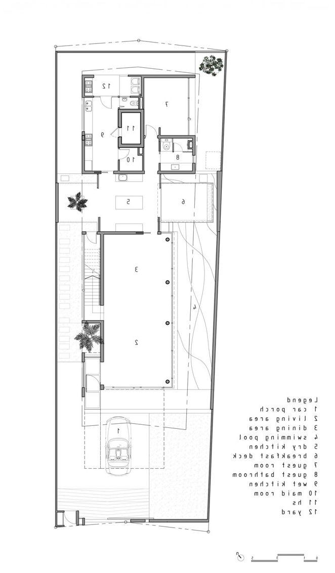 Conception en noir et blanc de la façade d'une maison privée