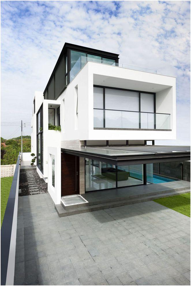 conception de façade de maison privée