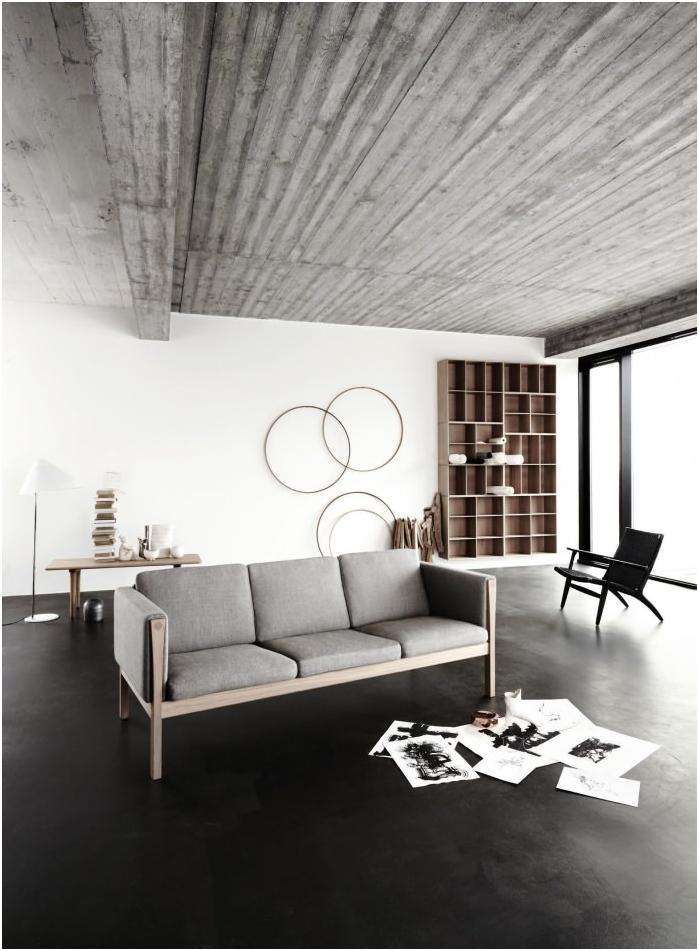 черен под в хола дизайн