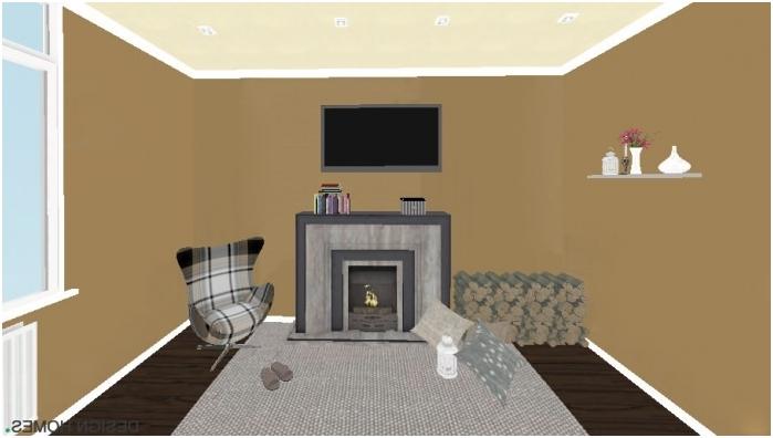 gradientowe połączenie ścian, podłogi i sufitu