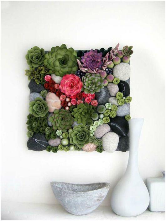 Картина из цветов.