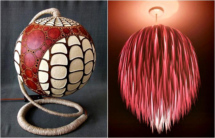 Оригинални лампи, които можете да направите сами.