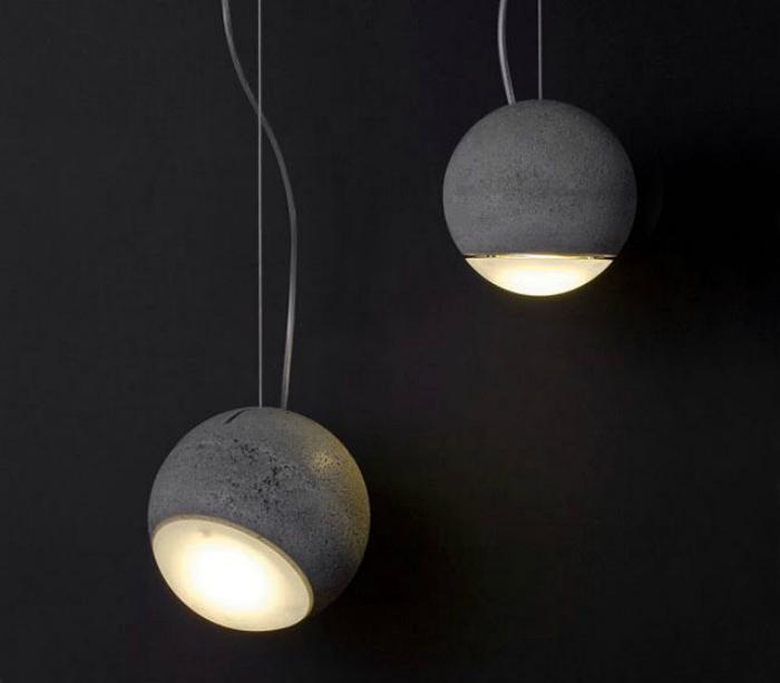 Бетонна лампа.