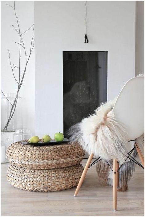 Плетёная мебель в скандинавском интерьере