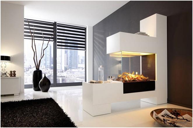 Снимки на декоративни камини в интериора
