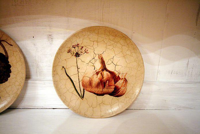 Декор тарелок по технике декупаж