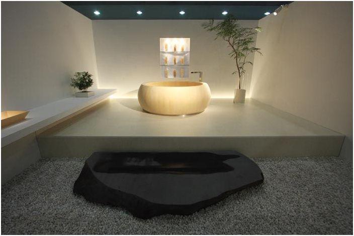 Кръгла вана от японската компания Furo