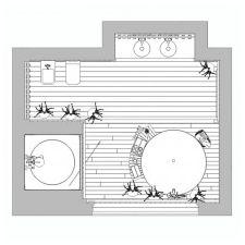 Дърво в баня дизайн-1
