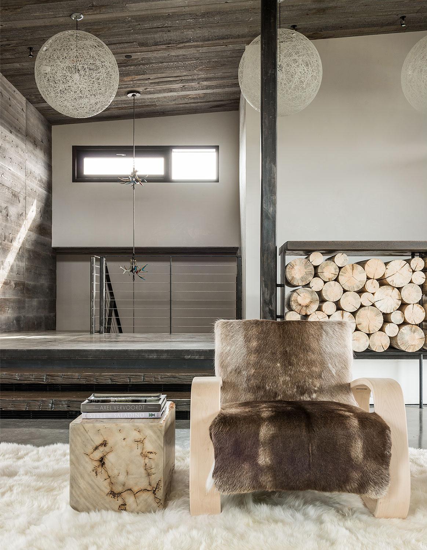 wnętrze prywatnego domu w górach