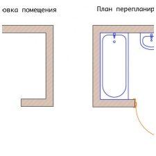 Дизайн на детска баня в бели тонове -1