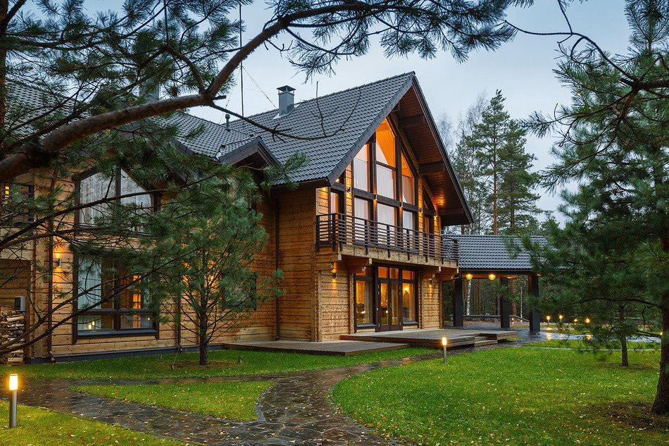 дизайн на къща от ламиниран фурнирен дървен материал