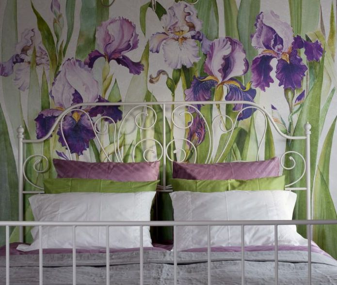 soverom med iris i hus i design i Provence-stil