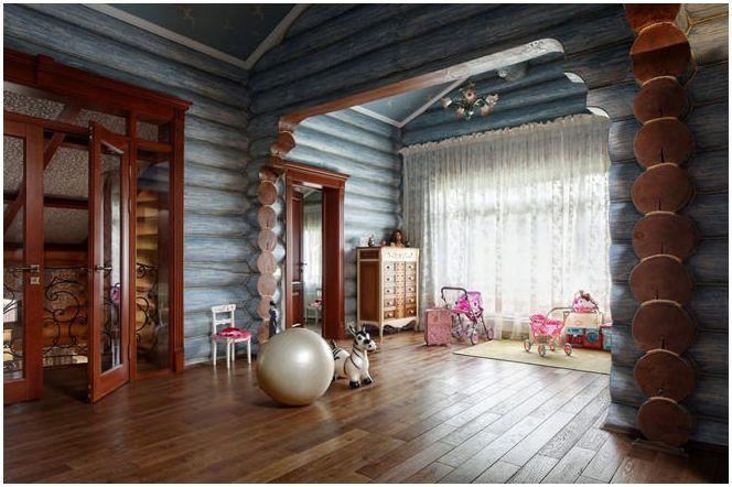 Детска стая в интериора на дървена къща