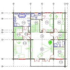 Дизайн интерьера деревянного дома из бруса от Nasonov DesignWerke-8
