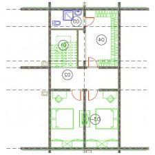 Interiørdesign av et trehus fra en bar fra Nasonov DesignWerke-9
