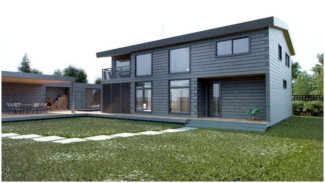 projektowanie domów z drewna klejonego warstwowo