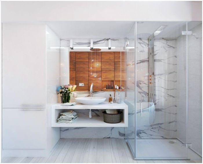 projekt łazienki 8 mkw. m.