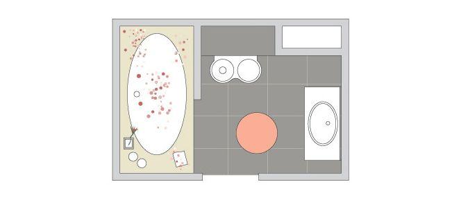 дизайн небольшой ванны