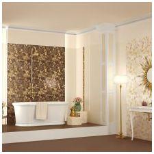 Дизайн интерьера ванной в золотом цвете -10